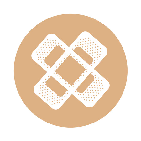 round icon bandage plaster cartoon vector graphic design