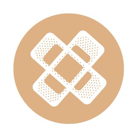 round icon bandage plaster cartoon vector graphic design