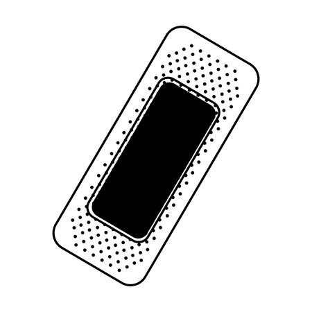 zwart pictogram pleister cartoon vector grafische vormgeving
