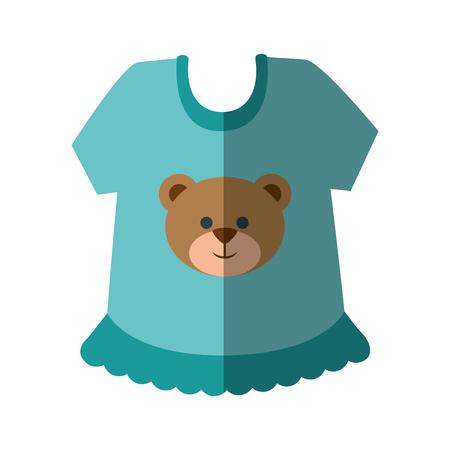 Icono de ropa de bebé sobre ilustración de vector de fondo blanco Foto de archivo - 79949443