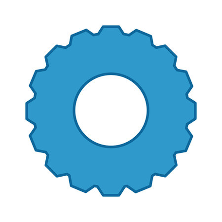 gear wheel icon over white background vector illustration Stock Vector - 79949755