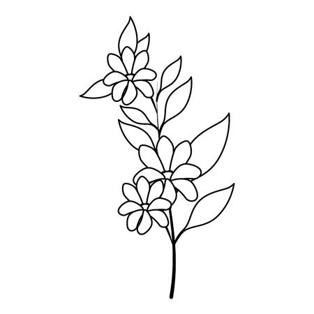 tropical flower icon over white background vector illustration Illustration