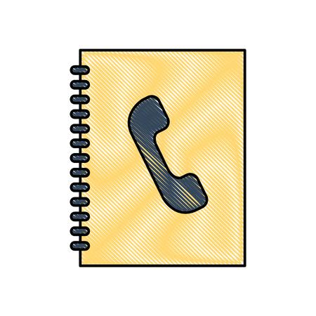 telephonic agenda isolated icon vector illustration design