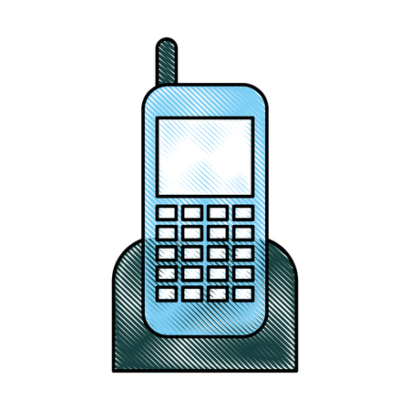 old cell phone: cellphone device isolated icon vector illustration design