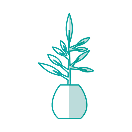 office plant isolated icon vector illustration design