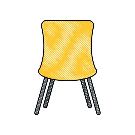 chair desk isolated iicon vector illustration design Illustration