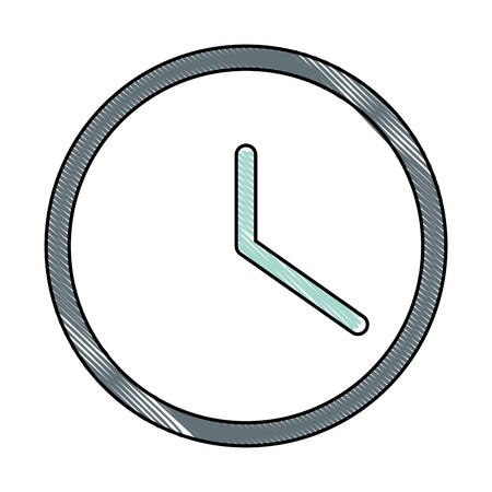wall watch time icon vector illustration design 向量圖像