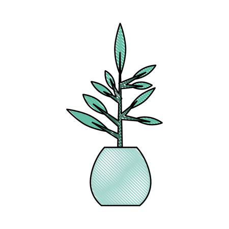 houseplants: office plant isolated icon vector illustration design