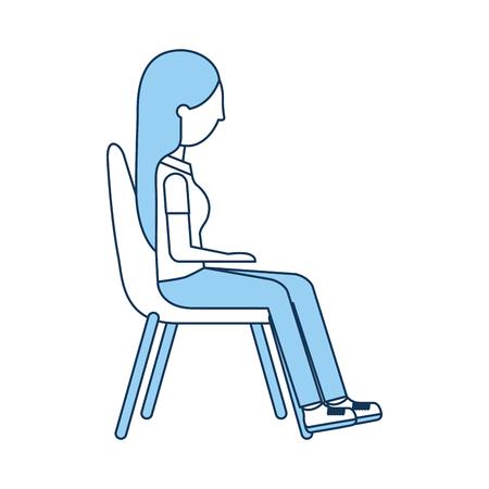 椅子ベクトル イラスト デザインに座っている女性  イラスト・ベクター素材