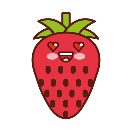 strawberry fresh fruit  character vector illustration design Фото со стока - 80034397