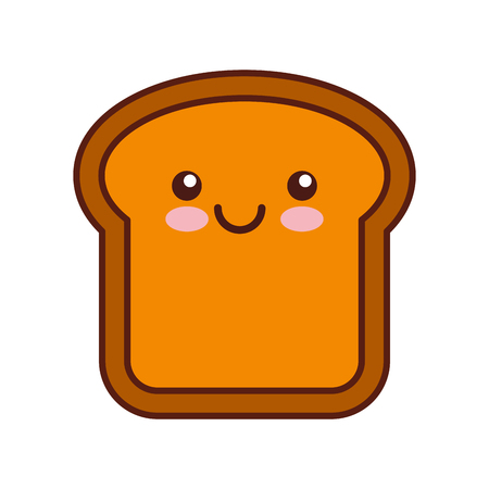 delicious bread slice character vector illustration design Ilustrace