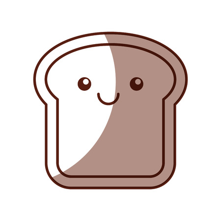 delicious bread slice kawaii character vector illustration design 向量圖像
