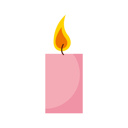 enjoyment: aroma therapy candle spa icon vector illustration design