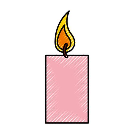 香り療法ろうそくスパ アイコン ベクトル イラスト デザイン  イラスト・ベクター素材