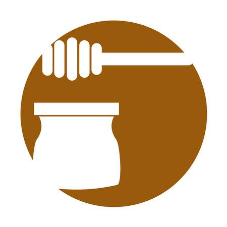 honey stick isolated icon vector illustration design Illusztráció