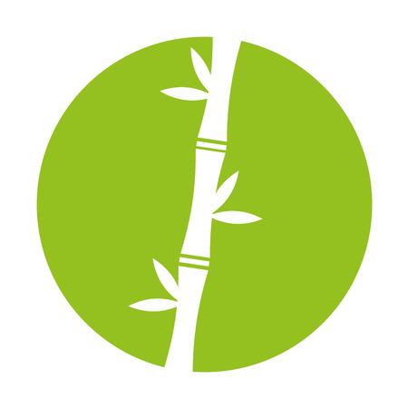 대나무 줄기 자연 아이콘 벡터 일러스트 디자인