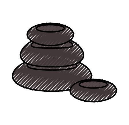 stones pile spa icon vector illustration design Ilustração
