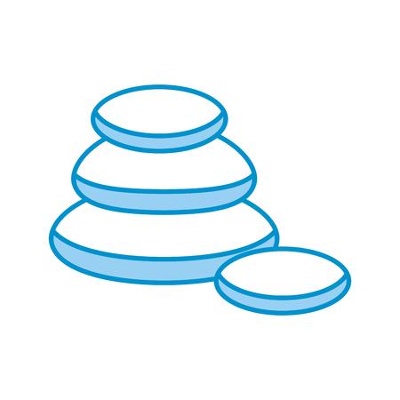stones pile spa icon vector illustration design Ilustrace