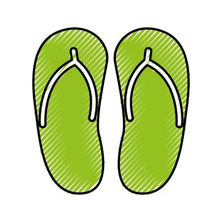 flip flops isolated icon vector illustration design 版權商用圖片 - 80041397