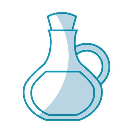 oil jar spa bottle vector illustration design