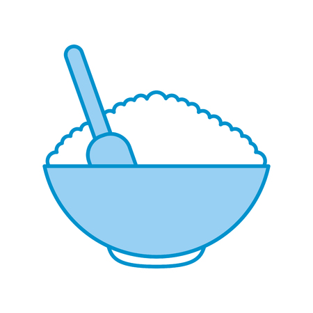 cereal dish with spoon vector illustration design 版權商用圖片 - 80034899