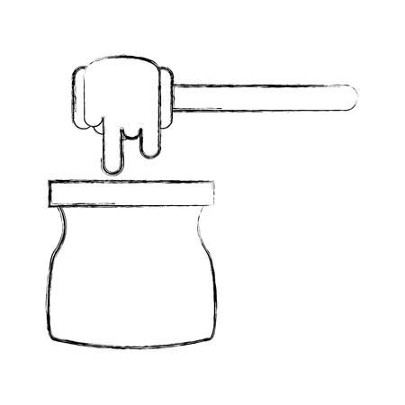 蜂蜜スティック分離アイコン ベクトル イラスト デザイン