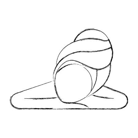 Femme de tête avec le design d'illustration vectorielle de Towell Banque d'images - 80034212