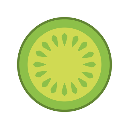 cucumber slice isolated icon vector illustration design