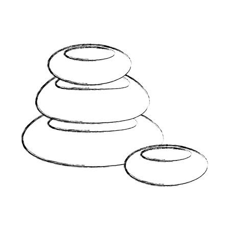 stones pile spa icon vector illustration design Illustration