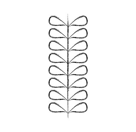 leafs plant wreath icon vector illustration design