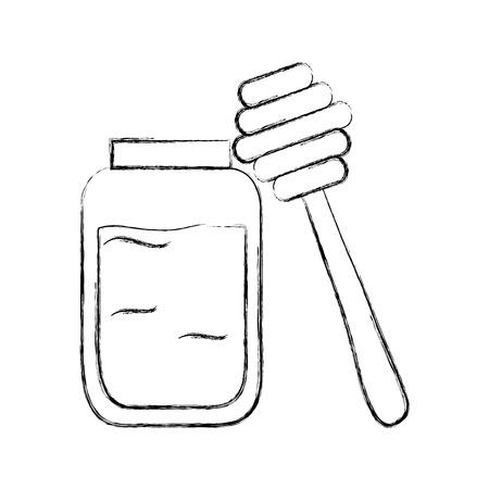 꿀 스틱 격리 된 아이콘 벡터 일러스트 레이 션 디자인