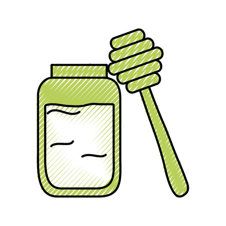 honey stick isolated icon vector illustration design Ilustrace