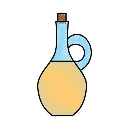 oil jar spa bottle vector illustration design Banco de Imagens - 80035396
