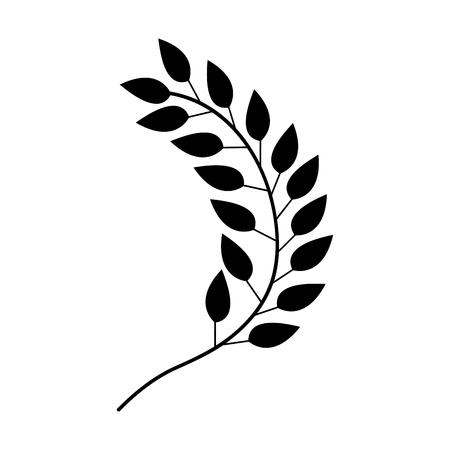 Bladert plantenkrans pictogram vector illustratie ontwerp Stockfoto - 80035435