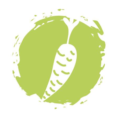 carrot fresh vegetable isolated icon vector illustration design