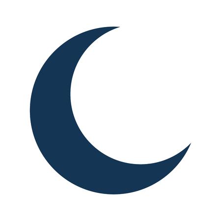 demi lune isolé conception d'icône vector illustration Vecteurs
