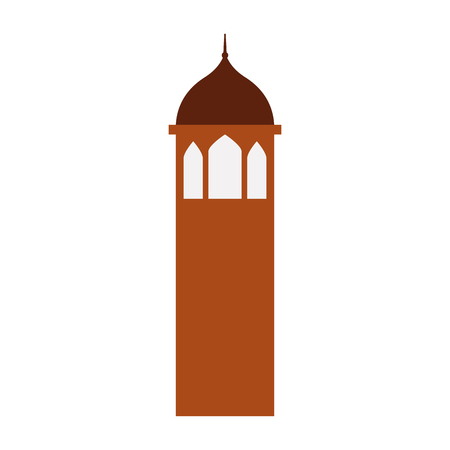 Castle tower isolated icon vector illustration design Иллюстрация