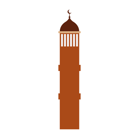 Castle tower with moon vector illustration design Illustration