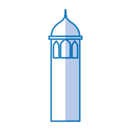 Castle tower isolated icon vector illustration design Illustration