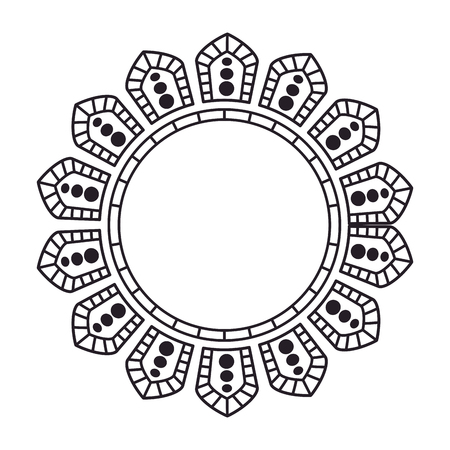circular lace mandala style vector illustration design Banco de Imagens - 80036715