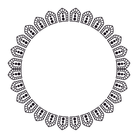 circular lace mandala style vector illustration design Banco de Imagens - 80037130