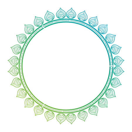 circular lace mandala style vector illustration design Imagens - 80036941