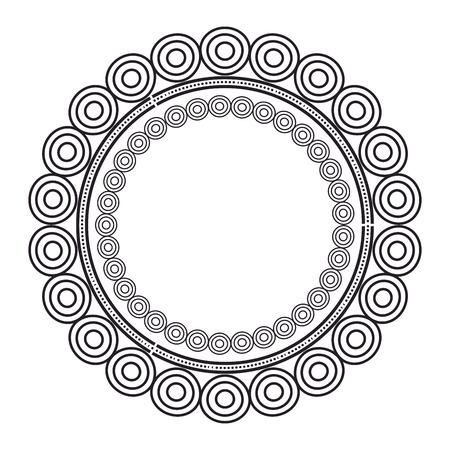 circular lace mandala style vector illustration design