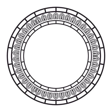 circular lace mandala style vector illustration design Imagens - 80038204