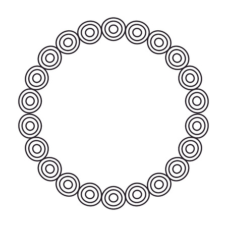 circular lace mandala style vector illustration design Banco de Imagens - 80038206