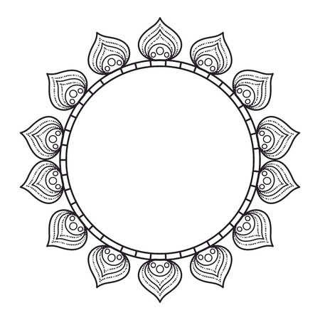 circular lace mandala style vector illustration design Imagens - 80038224