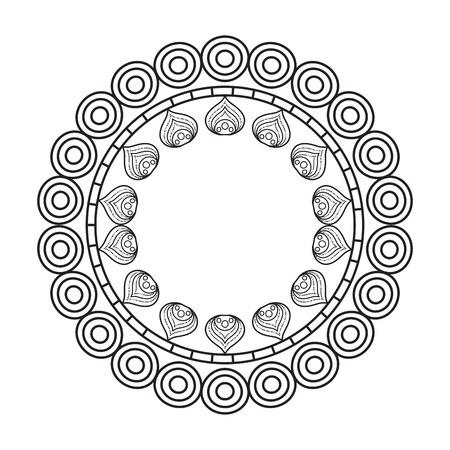 circular lace mandala style vector illustration design Imagens - 80038207