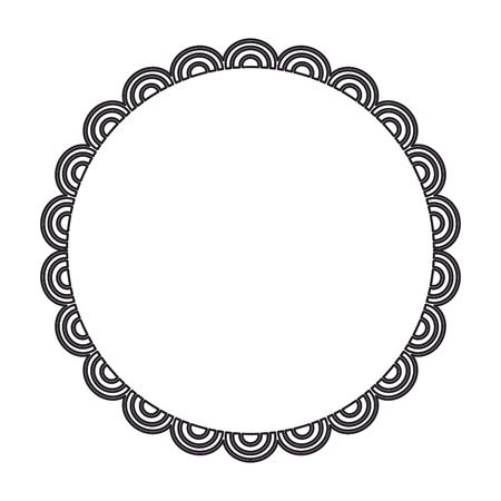 circular lace mandala style vector illustration design Imagens - 80038208
