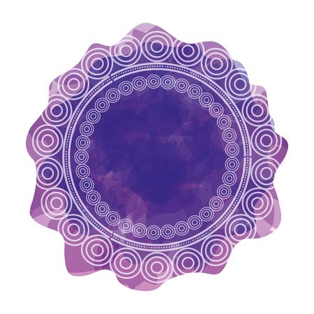circular lace mandala style vector illustration design Imagens - 80038316