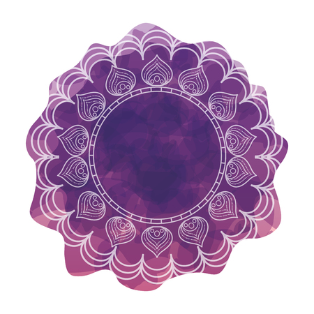 circular lace mandala style vector illustration design Imagens - 80038305